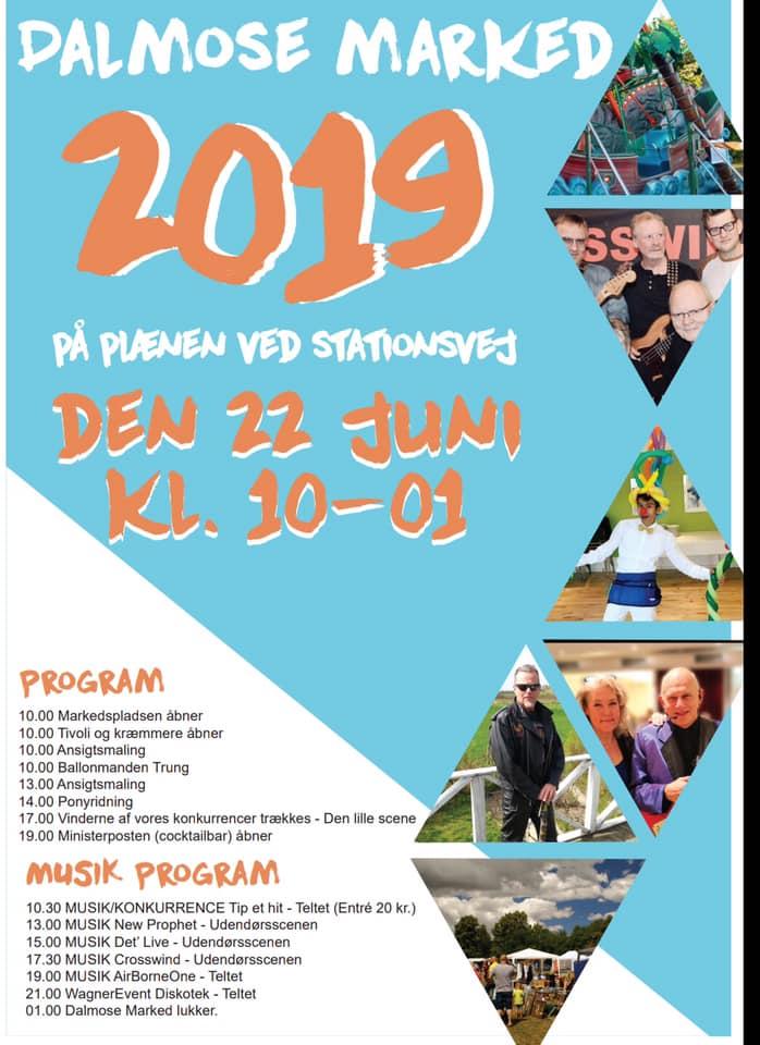 Dalmosemarked 2019 med program. Loppemarked og underholdning i Dalmose